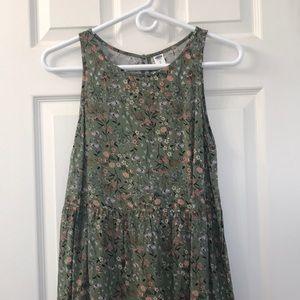 Old Navy Green Floral Dress